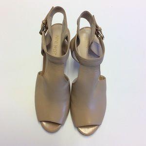 NINE WEST Nude Sandals Size 8.5